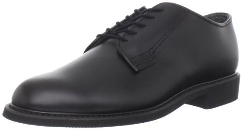 (Bates Men's Leather Uniform Oxford, Black, 9.5 D US)