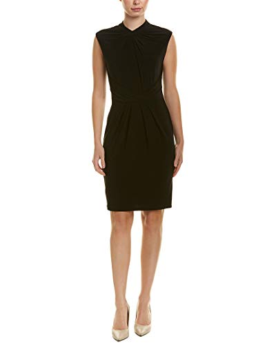 Adrianna Papell Women's Matte Jersey Sheath Dress, Black, 10