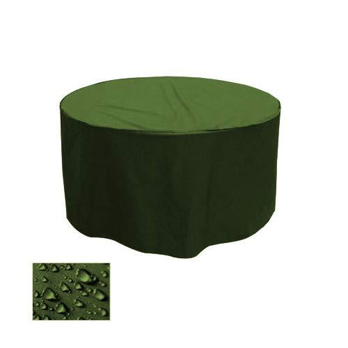Premium Gartentisch Abdeckung Gartenmöbel Schutzhülle RUND ø 205cm x H 90cm Olivgrün