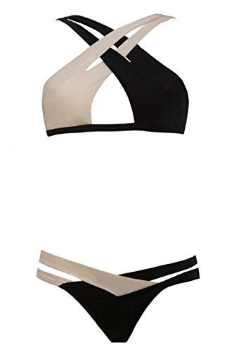 Cali Chic Celebrity Hot Sexy Crisscross Double Colored Bikini HOT Item! (Medium)