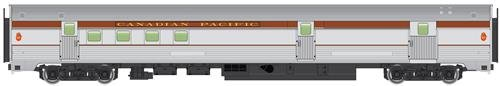 85' Budd Baggage-Railway Post Office - Ready To Run -- Canadian Pacific (silver, -