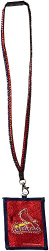 MLB St. Louis Cardinals Beaded Lanyard with Nylon Wallet