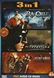 Ra one / Krrish / Agent Vinod (3 in 1 DVD Without Subtittle) by Shahrukh Khan