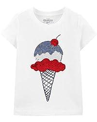 Girls Sequin Short Sleeve T-Shirt