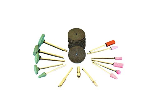 (TEMO 50pc Precision Rotary Tool Accessories for Cutting Grinding Silicon Carbide Aluminum Oxide 1/8 inch (3mm) Shank fit Dremel GC)