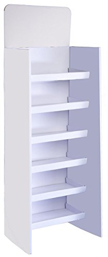 Displays2go Floor-Standing Shelving Unit with 6 Shelves, 71.5-Inch, White