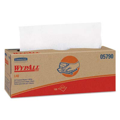 KIMBERLY-CLARK PROFESSIONAL WYPALL L40 Cloth-Like Wipes, 16 2/5 X 9 4/5 - Includes Nine Boxes of 100 Each.