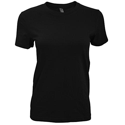 American Apparel Womens/Ladies Plain Short Sleeve T-Shirt (M) (Black)