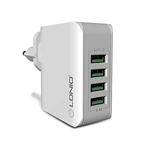 TECLUSIVE Ldnio 4 USB Multi Ports Mobile Wall Charger || Rapid Charge 4.4A Mobile Travel Adapter