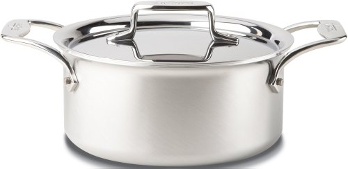 All-Clad BD55303 D5 Brushed 18 10 Stainless Steel 5-Ply Bonded Dishwasher Safe Casserole with Lid and Steamer Cookware, 3-Quart, Silver