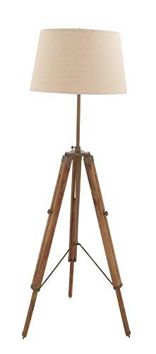 "Benzara Deco 79 24484 Wood Tripod Floor Lamp, 66"" H"