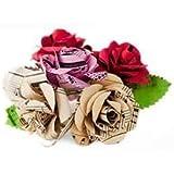 Scrappy Do Decorazione Rosa Musicale In Carta Con Pentagramma Dimensione Grande Misto Floreale (5cm x 5cm)