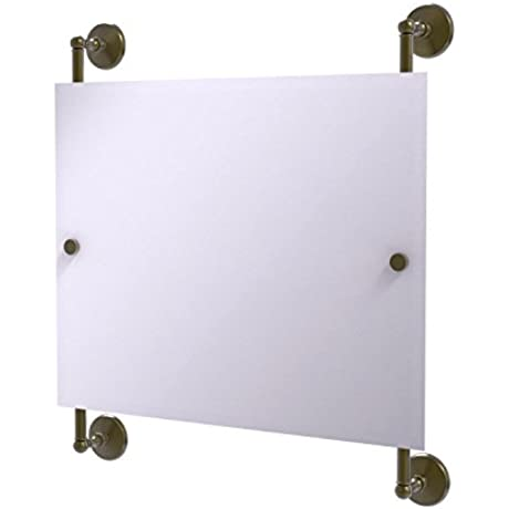 Allied Brass MC 27 93 Abr Monte Carlo Landscape Rectangular Frameless Rail Mounted Mirror