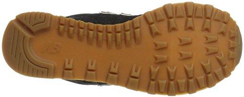 Nuovo Equilibrio Mens Ml574 Tela Pacchetto Sneaker Nero / Marrone