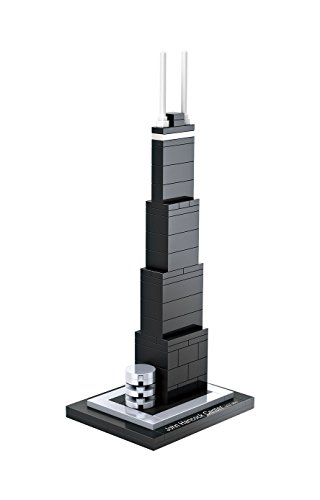 MICRO-BRICKLAND John Hancock Center Building Bricks Toy Sets for Kids Teens Construction Toy Building Kits Compatible with Big Brand Micro Blocks Products , 69 Pieces