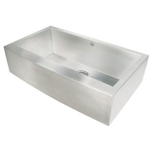 Artisan CPAZ-3621-D10 Undermount Single Basin 16-Gauge Stainless Steel Apron Front Kitchen Sink Chef Pro Collection