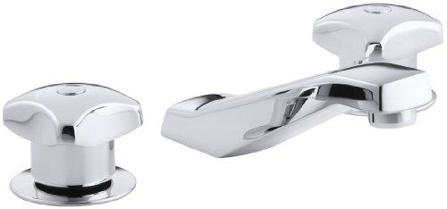 KOHLER K-7443-2A-CP Triton Widespread Lavatory Faucet, Polished Chrome