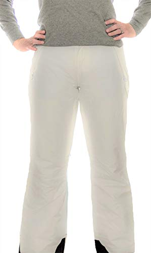 Lund and Blockley Ladies Insulated Waterproof Ski Snow Pants (Small, White) ()