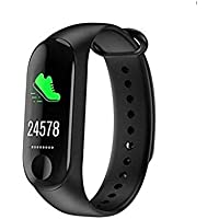 RK enterprise M3 Activity Tracker Band 3 Wristband Smartwatch with Everyday Step Count, Heart Rate Monitoring for All Smart Phones/Device (Assorted Colour)