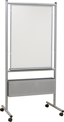 Best-Rite Mobile Nest Easel, Platinum Frame, Double Sided Dura-Rite HPL Whiteboard, 72''H x 34.75''W x 24''D (785) by Best-Rite