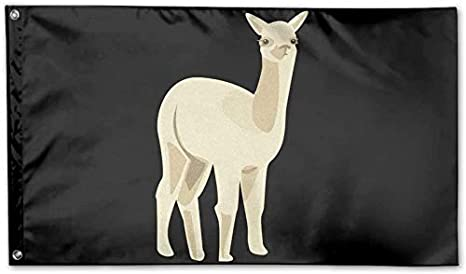 Banderas Alpaca Logo Garden Flag 3x5 FT Banner Flags Game Anniversary Decorations for Yard House Outdoor Party Supplies