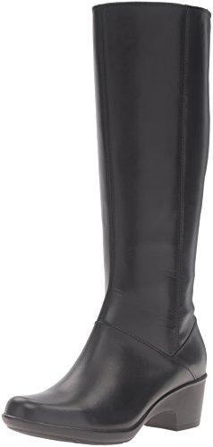 Clarks Women's Malia Skylar Riding Boot - Black Leather -...