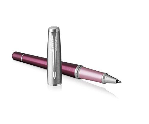 Parker Urban Rollerball Pen, Premium Dark Purple with Fine Point Black Ink (Point Black Ink Refill)