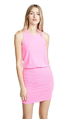 SUNDRY Women's Sleeveless Dress, Pigment Neon Pink, 0
