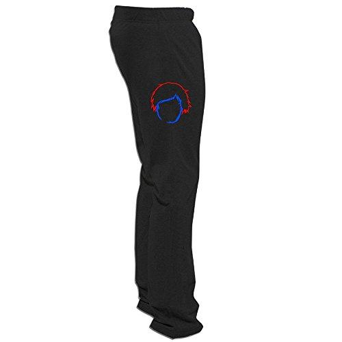 Price comparison product image Kim Men's Running Pants Cartoon Boy E & D Black Size L