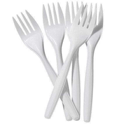 Price comparison product image Plastic Party Forks x 100