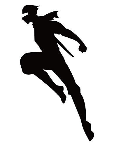- 6ft Tall NINJA Wall Decal. Kid's Room Home Decor. Martial Art. (Black) #286A