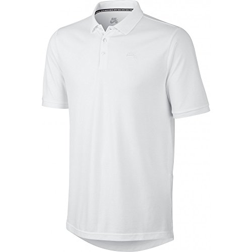 Nike SB Mens' Dri-FIT Pique Polo Shirt - White/White (Medium)