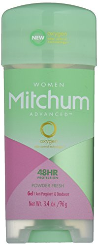 Mitchum Anti-Perspirant & Deodorant for Women, Power Gel, Powder Fresh, 3.4 oz (96 g) (Pack of -