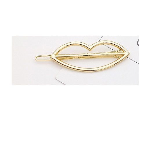 Fashion Women Girl Gold/Silver Plated Metal Triangle Moon Hair Clips Hairpins Holder Hair Accessories Hairclip D ()