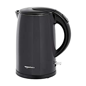 AmazonBasics Double-Walled Stainless Steel Electric Kettle – 1.7 Litre (2200 Watt)