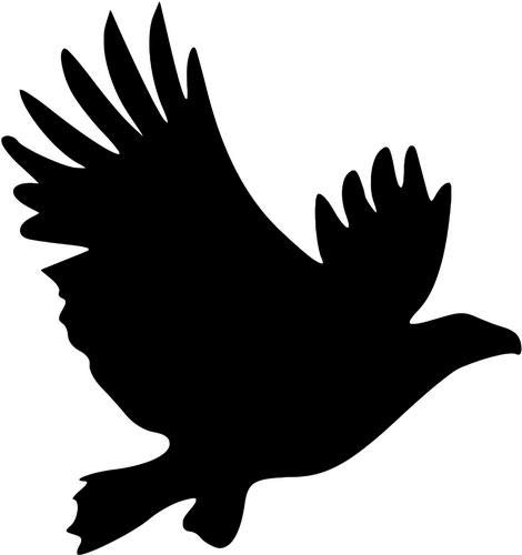Mandy Graphics Flying Hawk Bird Vinyl Die Cut Decal Sticker for Car Truck Motorcycle Windows Bumper Wall Home Office Decor Size- [8 inch/20 cm] Tall and Color- Gloss - Truck Hawk