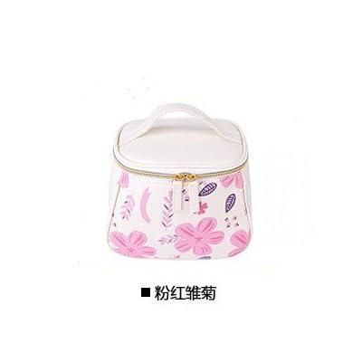 LULANPetit sac cosmétique voyage minimaliste portable grand paquet paquet de lavage cosmétique admission ,19*11*15cm, grande rose