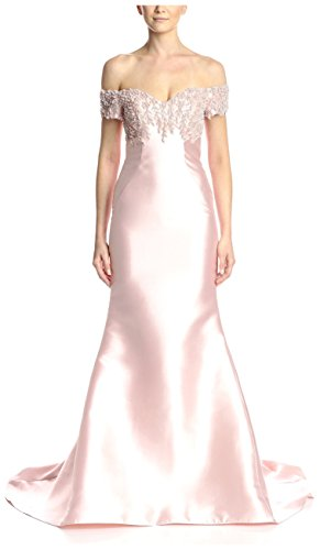 Terani Couture Women's Off The Shoulder Gown, Blush, 10