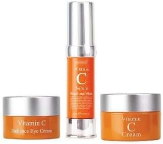 Set Vitamin C, Vitamin C Radiance Eye Cream + Vitamin C Serum + Vitamin C Cream Bright and Whitening Set of 3