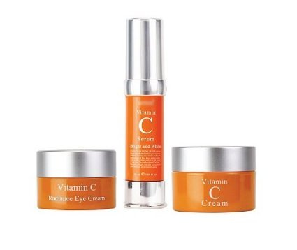 Set Vitamin C, Vitamin C Radiance Eye Cream + Vitamin C Serum + Vitamin C Cream Bright and Whitening Set of 3 - Vitamin Radiance Cream