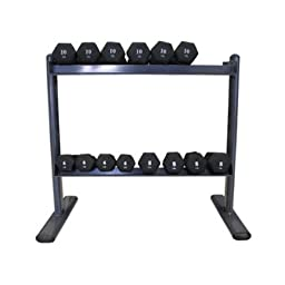 Amber Fight Gear 2 Tier Space Saver Dumbbell Rack w Scratch Resistant Finish