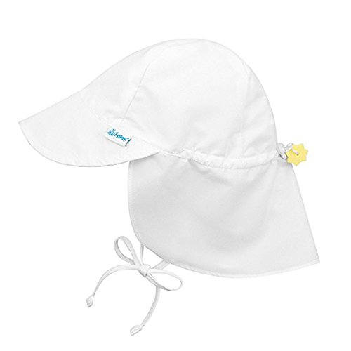 Sanyyanlsy 0-4 Year-Old Children Cotton Sun Visor Elastic Hat Wing Lanyard Cap Bandage Bow Knot Sun Protection Hat White