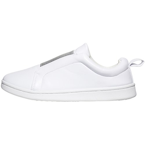 Sara Z Womens Fashion Casual Slip-on Loafers Classic Sneakers White/Silver WLH7VJ