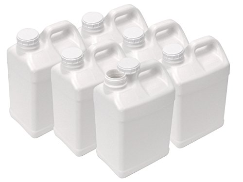 (2.5 Gallon Plastic F-Style Jug, Pack of 6)