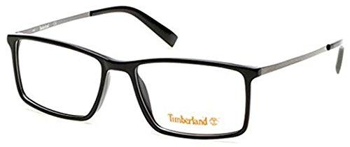 56MM de Lunettes TIMBERLAND TB1551 vue Noir 001 brillant P404dgCr