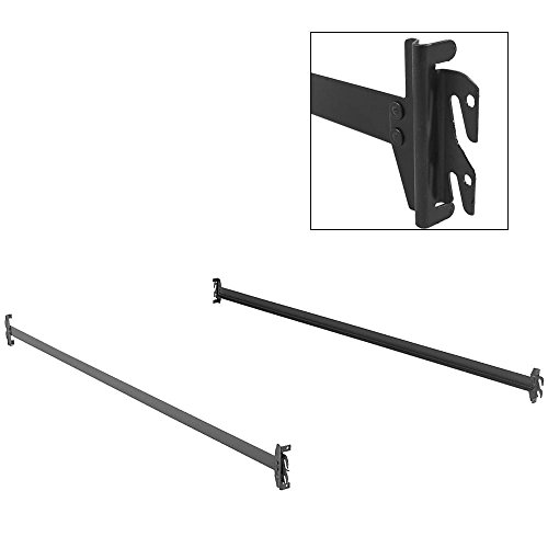 Leggett & Platt Consumer Products Group 75-Inch 140H Bed Frame Side Rails with Hook-On Brackets for Headboards and Footboards (No Carton), Twin/Full