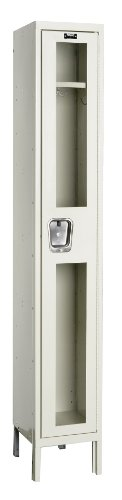 Hallowell USV1228-1PT Safety-View Locker, 12'' Width x 12'' Depth x 78'' Height, Single Tier, 1-Wide, Knock-Down, 729 Parchment by Hallowell