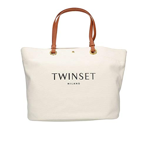 Donna Bianco Bag Shopping Twinset 191to8202 Itx0xq