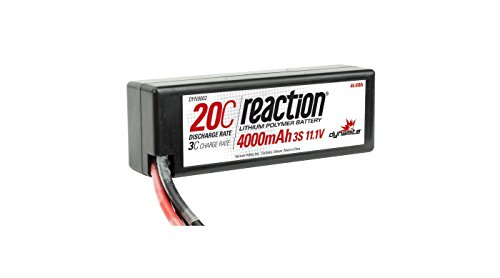 Dynamite Reaction 11.1V 4000mAh 3S 20C LiPo Hard Case: EC3 B