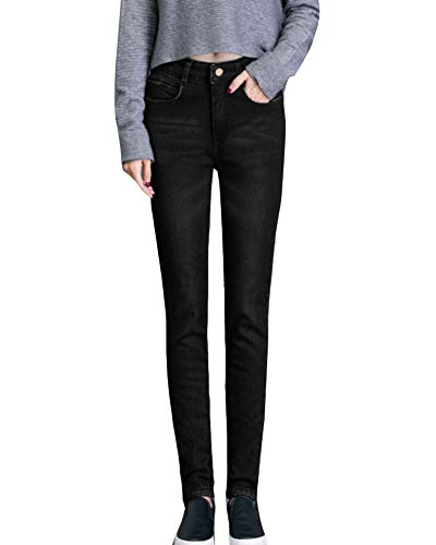 Pantalons Jeans Up Chaud Taille Legging Taille Skinny 3077noir Push fqPRUY